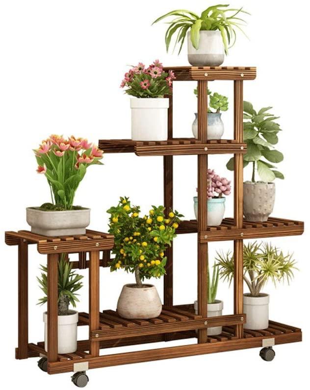 Plant Holder Plant Holder Plant Stands Indoor Garden Flower Shelf Ladder White LXLXCS (Color : COOFE)