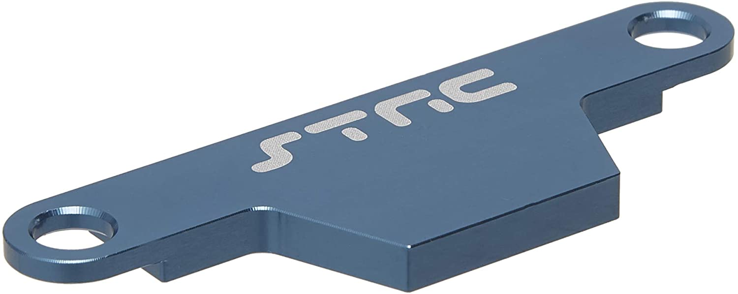 ST Racing Concepts ST3727AB CNC Machined Aluminum HD Battery Hold Down Plate (Rustler/Bandit) Blue