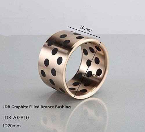 Ochoos JDB202810 Graphite-Bronze Self-Lubricating Bearings 4pcs / Graphite Sleeve Bearings for Canned Motor and Submersible Pump