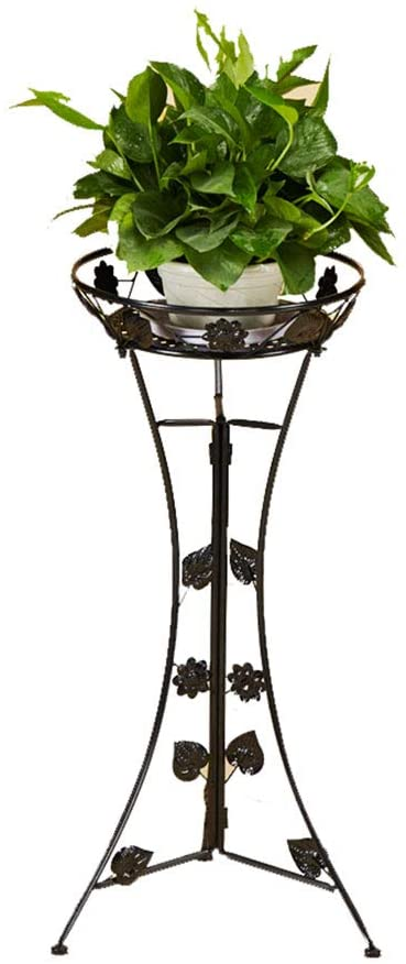 Plant Holder Plant Stand Plant Stands Outdoor Metal Flower Display Stand Living Room Balcony Decoration Metal White -76cm LXLXCS (Color : Black)