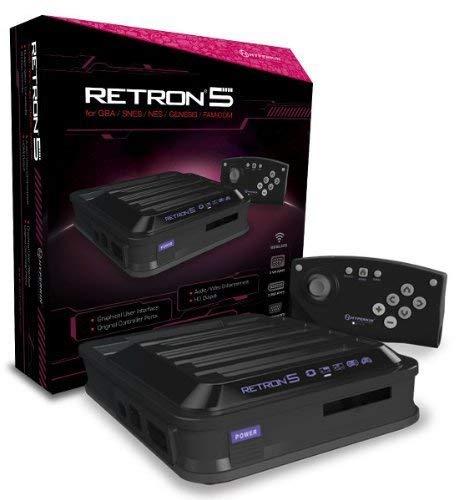 Hyperkin RetroN 5: HD Gaming Console for Game Boy Advance/ Game Boy Color/ Game Boy/ Super NES/ NES/ Super Famicom/ Famicom/ Genesis/ Mega Drive/ Sega Master System (Black)