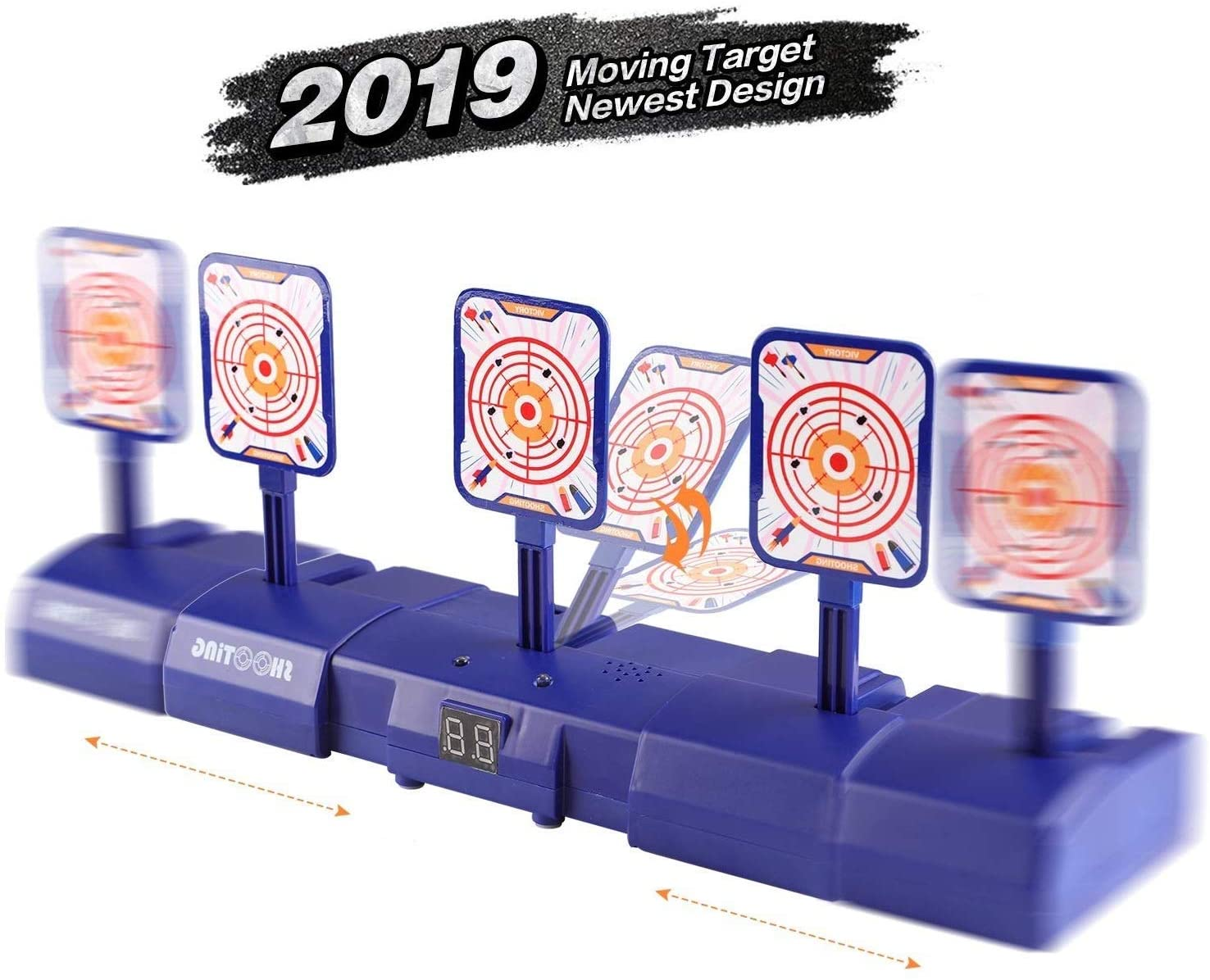 Electronic Shooting Targets for Nerf Guns Blaster Digital Scoring Auto Reset, Ideal Gift Toy for Boys and Girls