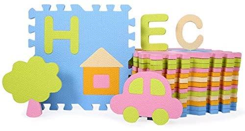 GIOH 28 Pcs Baby EVA Foam Puzzle Play Mat/Interlocking Exercise Floor Carpet Tiles, Rug for Kids,Each 30301.3cm (Color : #2)