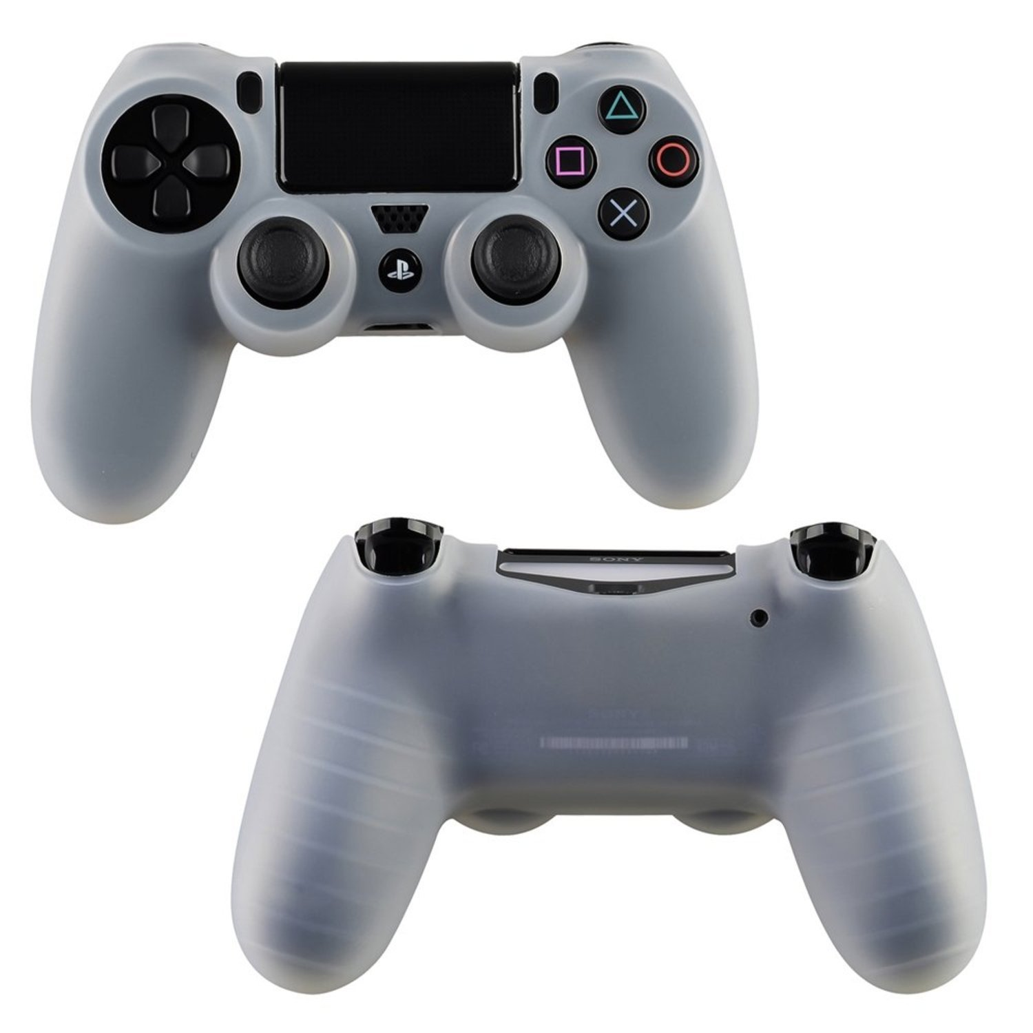 Theo&Cleo 2x White Silicone Controller Case For Sony PlayStation PS4