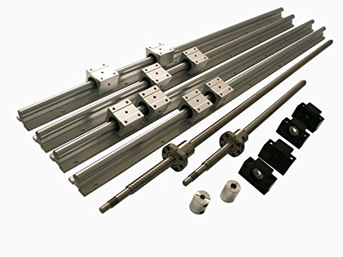 Joomen CNC sbr20 Support Rail rm1605 ballscrew 1400/1400mm Linear Motion kit