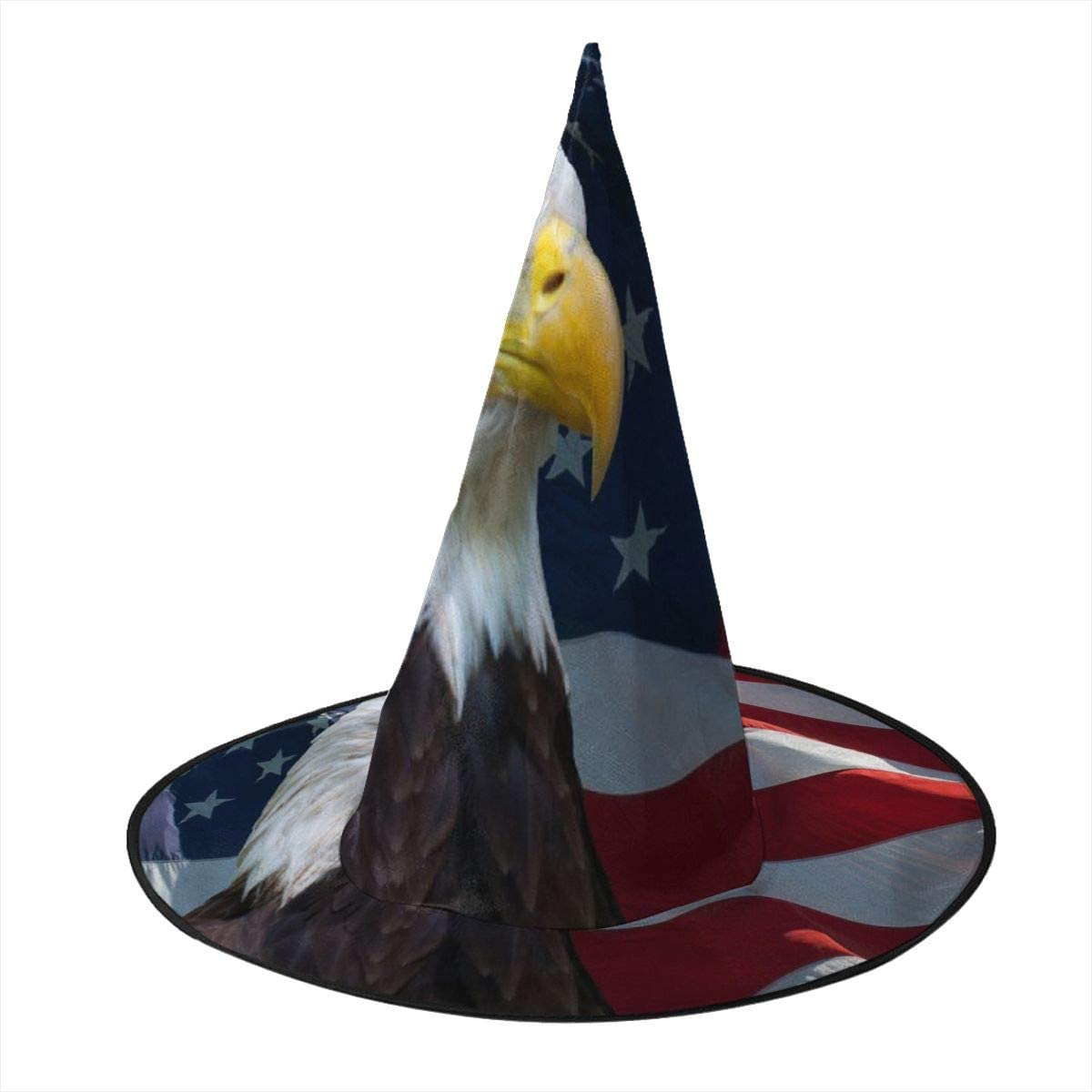 Halloween Witch Hat,American Flag Witches Hat for Women Halloween Party Cosplay Decoration