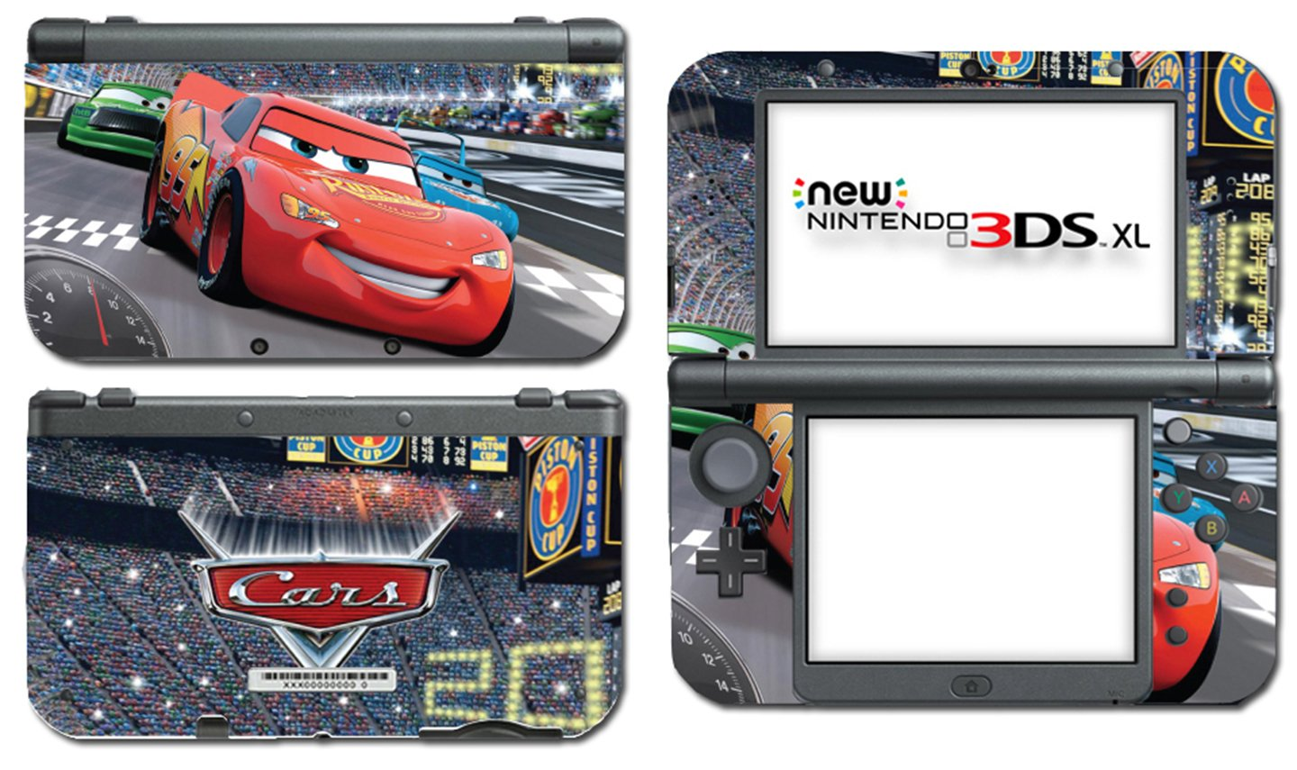 Cars Lightning McQueen Sally Racing Movie Video Game Vinyl Decal Skin Sticker Cover for the New Nintendo 3DS XL LL 2015 System Console