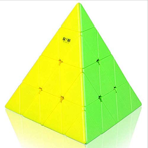 QIYI Mofangge 4x4 Pyramid Triangle Magic Cube Speed Cube Puzzle Cube for Children Adults Color Stickerless
