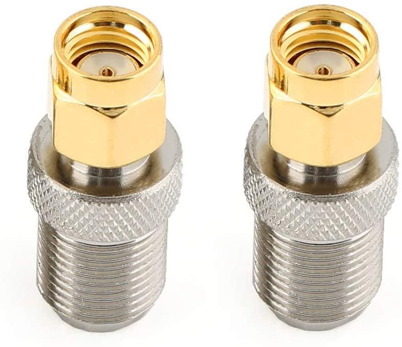 DHT Electronics 2PCS RF coaxial Coax Adapter RP-SMA Male to F Female