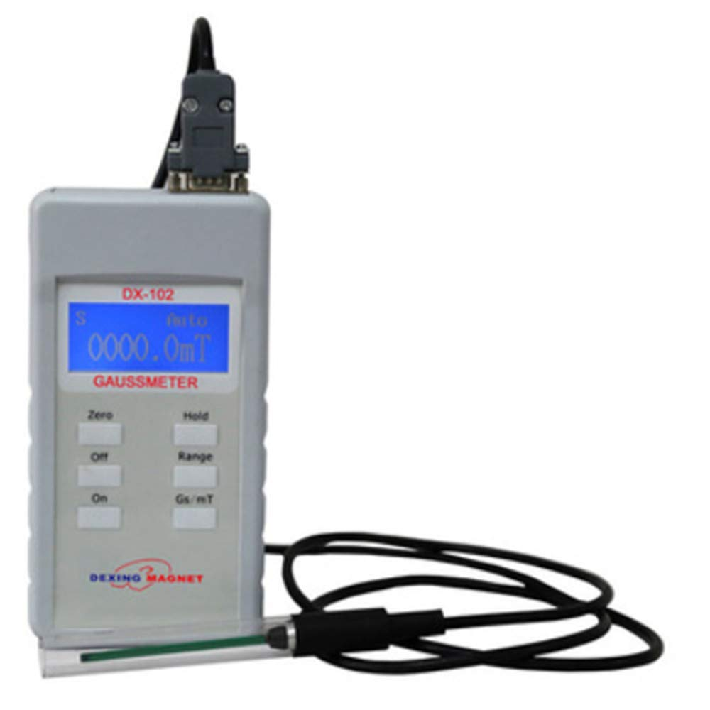 DX-102 Hand-held Digital Teslameter Portable Gaussmeter Based on The Latest Progress of Hall Effect Magnetic Field Measuring Instrument, Adopted DSP Technology.