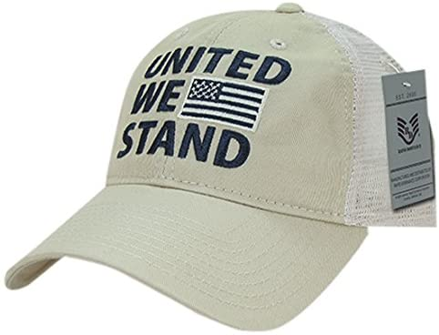Rapiddominance Relaxed Trucker United We Stand USA Cap