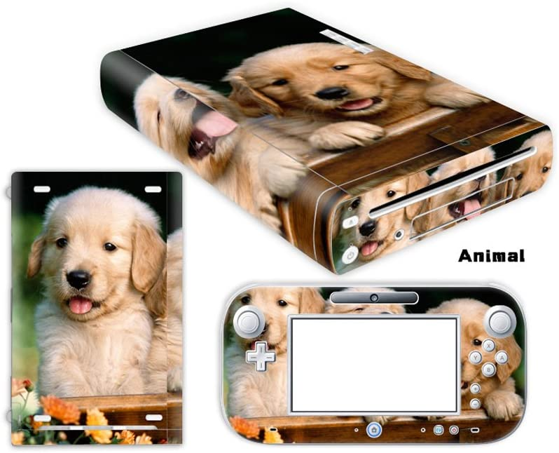 For Nintendo WII U decal skin sticker Firstway Vinyl Skin Decal Sticker protector cover for Wii U console