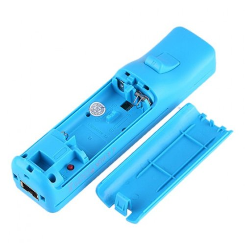 Bargain Hot! Wireless Remote Control with Silicon Skin for Nintendo Wii Blue by AHMET