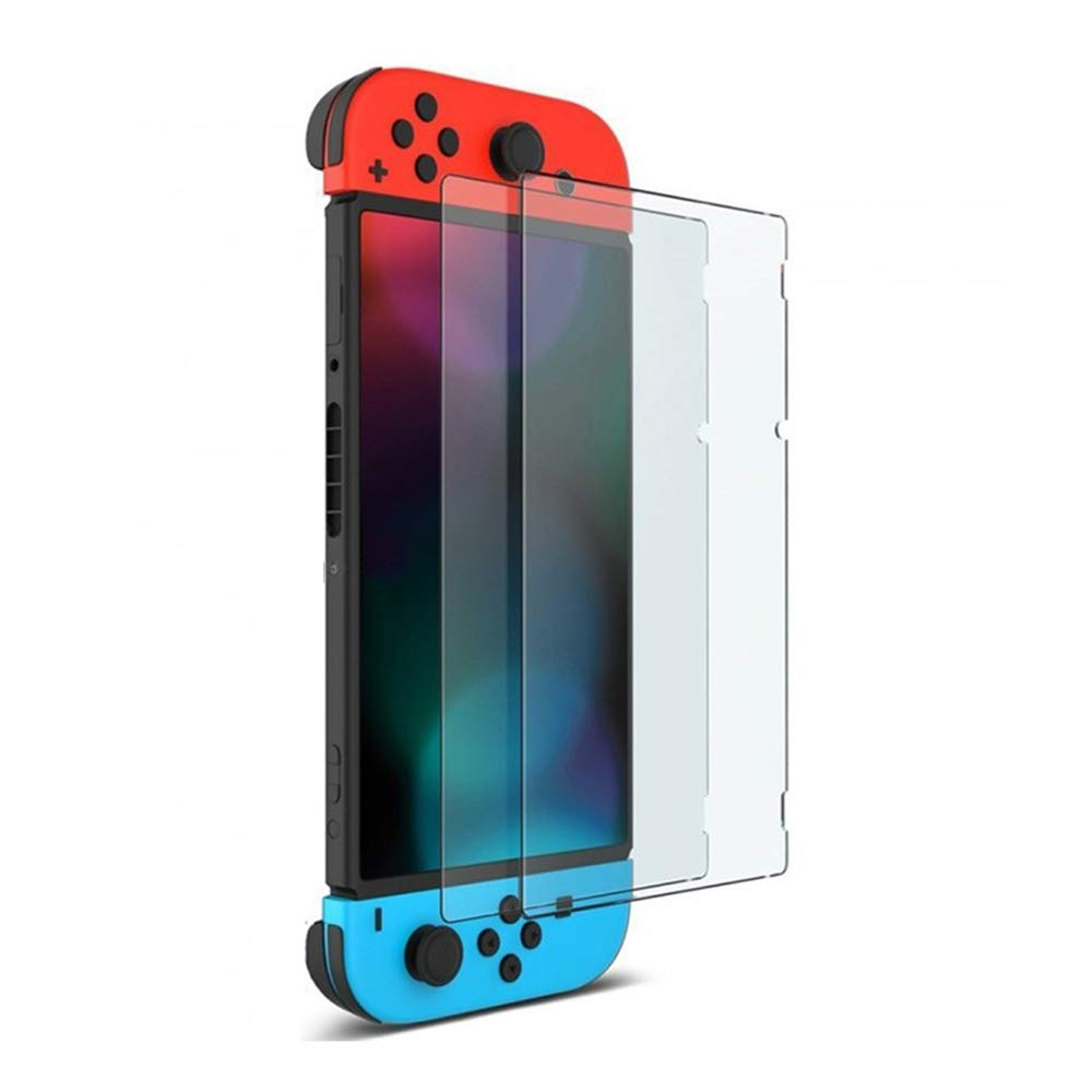 AODD Glass Screen Protector for Nintendo Switch, 2pcs Premium Transparent HD Clear and Anti-Scratch Glass Screen Protector, Full Coverage Protective Film, Durable, Protective Accessories for Nintendo