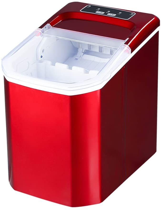 Ice Basket Scoop Included Ice Machine with Led Display for Home Party,Countertop Ice Maker,Portable Ice Machine 9 Ice Cubes Ready in 8 Mins Red 9x13x13inch