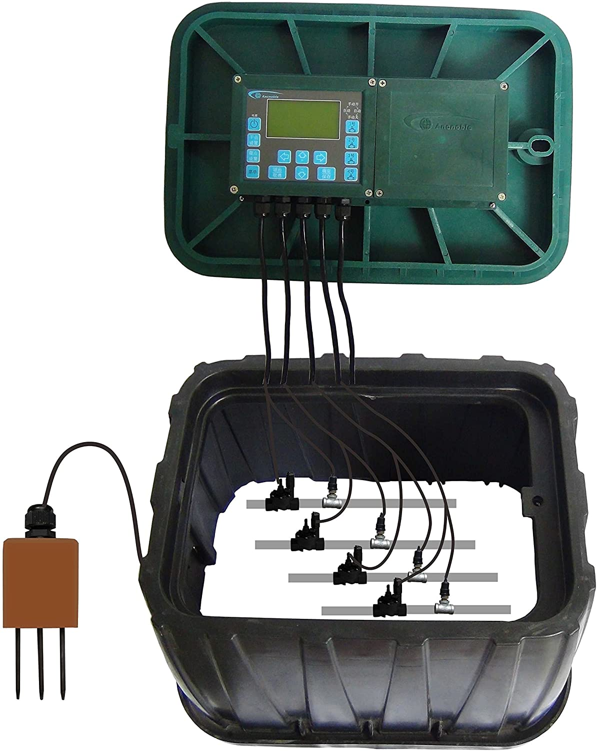 Ancnoble 4 Valves Wireless Field Controller/Relay Irrigation Control System