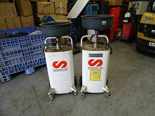 2 Samson 20 Gallon Waste Oil Drain Commercial Professional Auto Shop