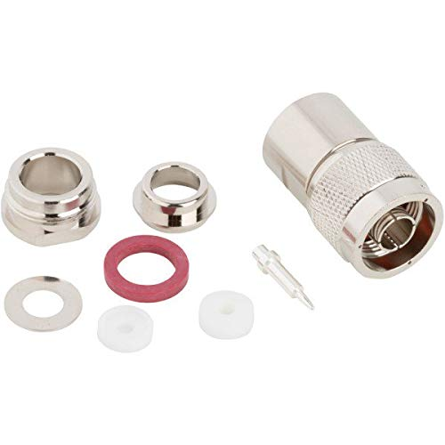 082-312, RF Connector UG-1185/U N-Type Straight Clamp Plug for RG-8 RG-9 RG-144 RG-165 RG-213 (2 Items)