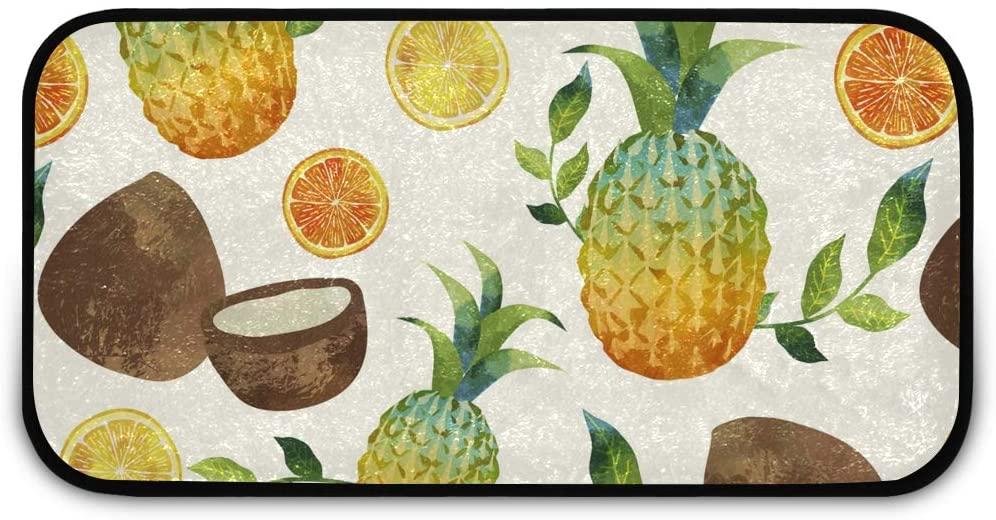 Rectangle Shaggy Rug Indoor Doormats for Kids Tropical Fruits Front Door Anti-Slip Rug Rectangle Carpet Play Mat