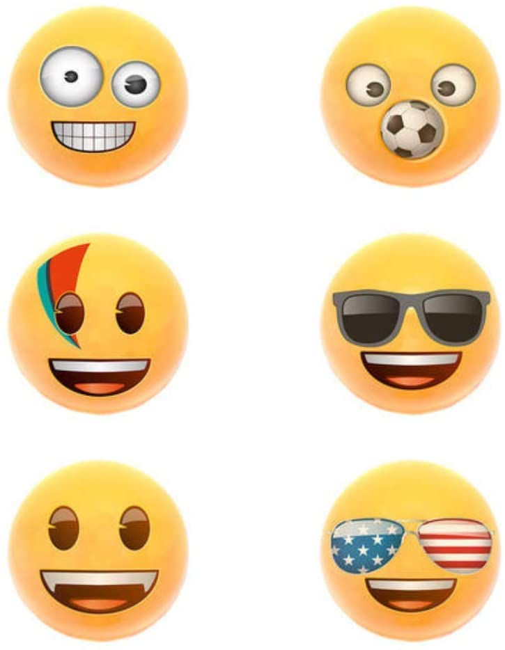 Emoji Pullback Racers (6 Pack) Emoji Racers with Cool Emojis Faces, for Kids Great Party Favors, Fun, Toy, Gift, Prize, Piñata Fillers