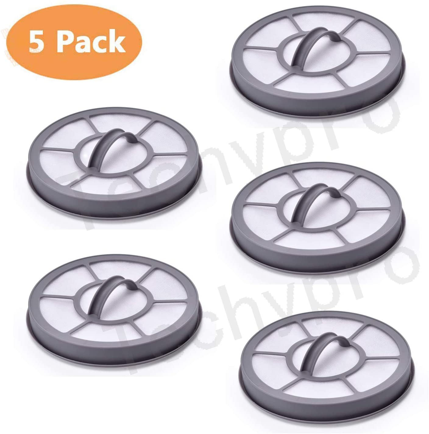 Techypro 5 pack Replacement Vacuum Filter for Eureka Exhaust Airspeed EF-7 Models AS3001A, AS3008A, AS3011A, AS3030A.Replaces Part 091541