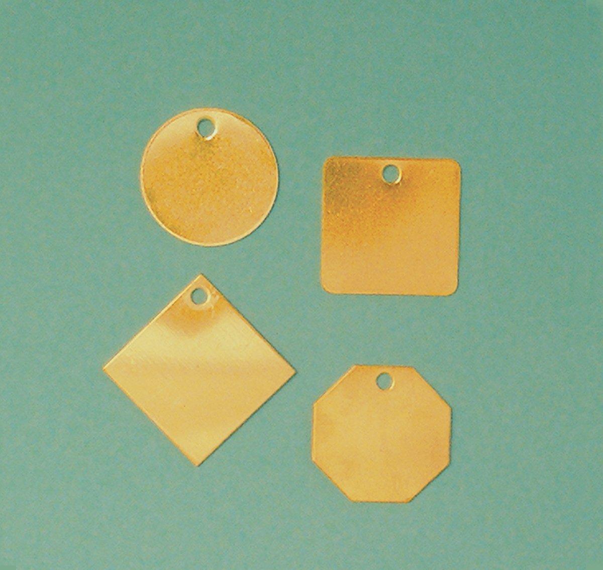 Accuform TDB122 Brass Blank Identification Tag, Octagon, 18 Gauge, 1-1/2