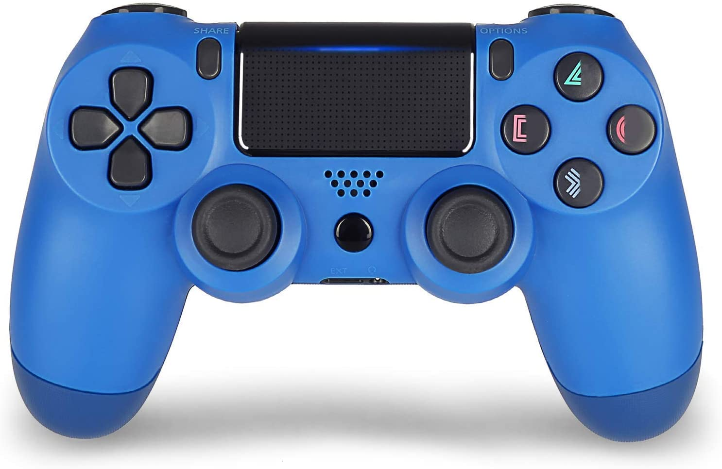 Wiireless Controllers for PS4 , AO Remote for DualShock 4, Game Control Compatible for Playstation 4,  Blue (Renewed)