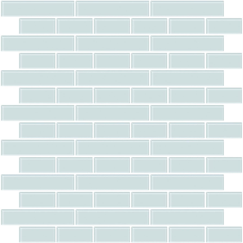 In Home NH2361 Sea Glass Peel & Stick Backsplash Tiles, Blue