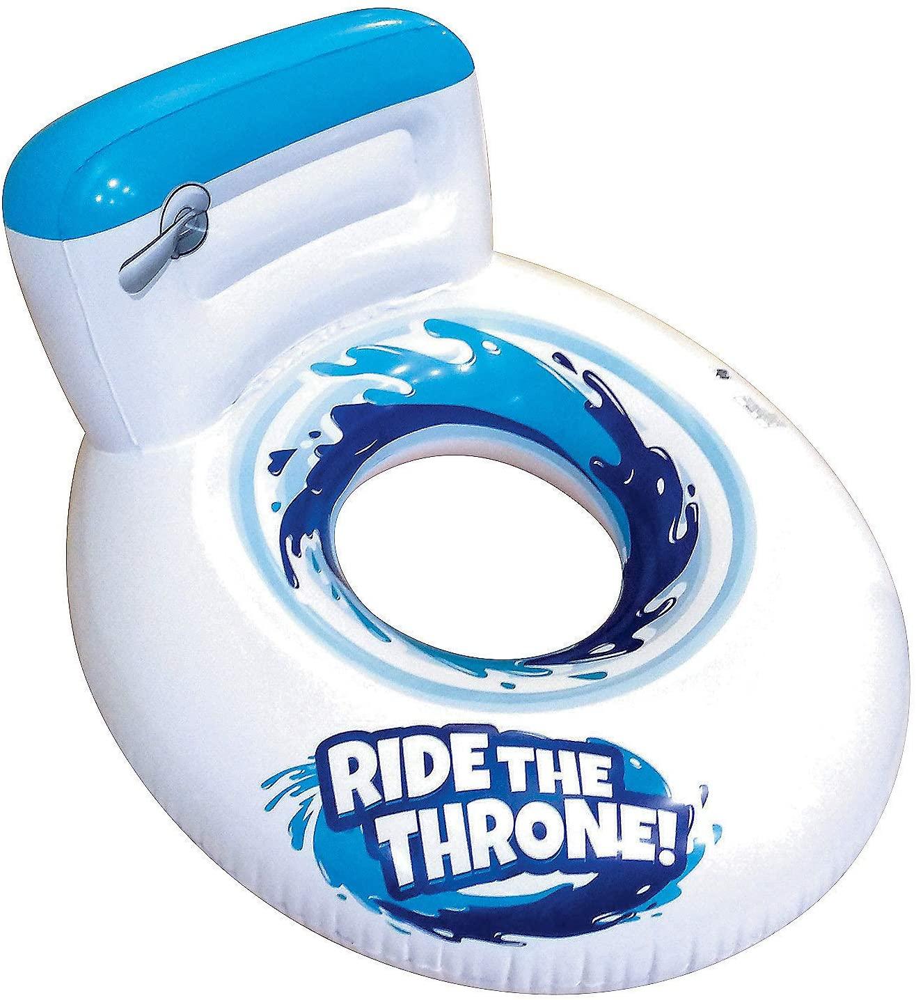 Fun Express Banzai Inflatable Toilet Seat Pool Float