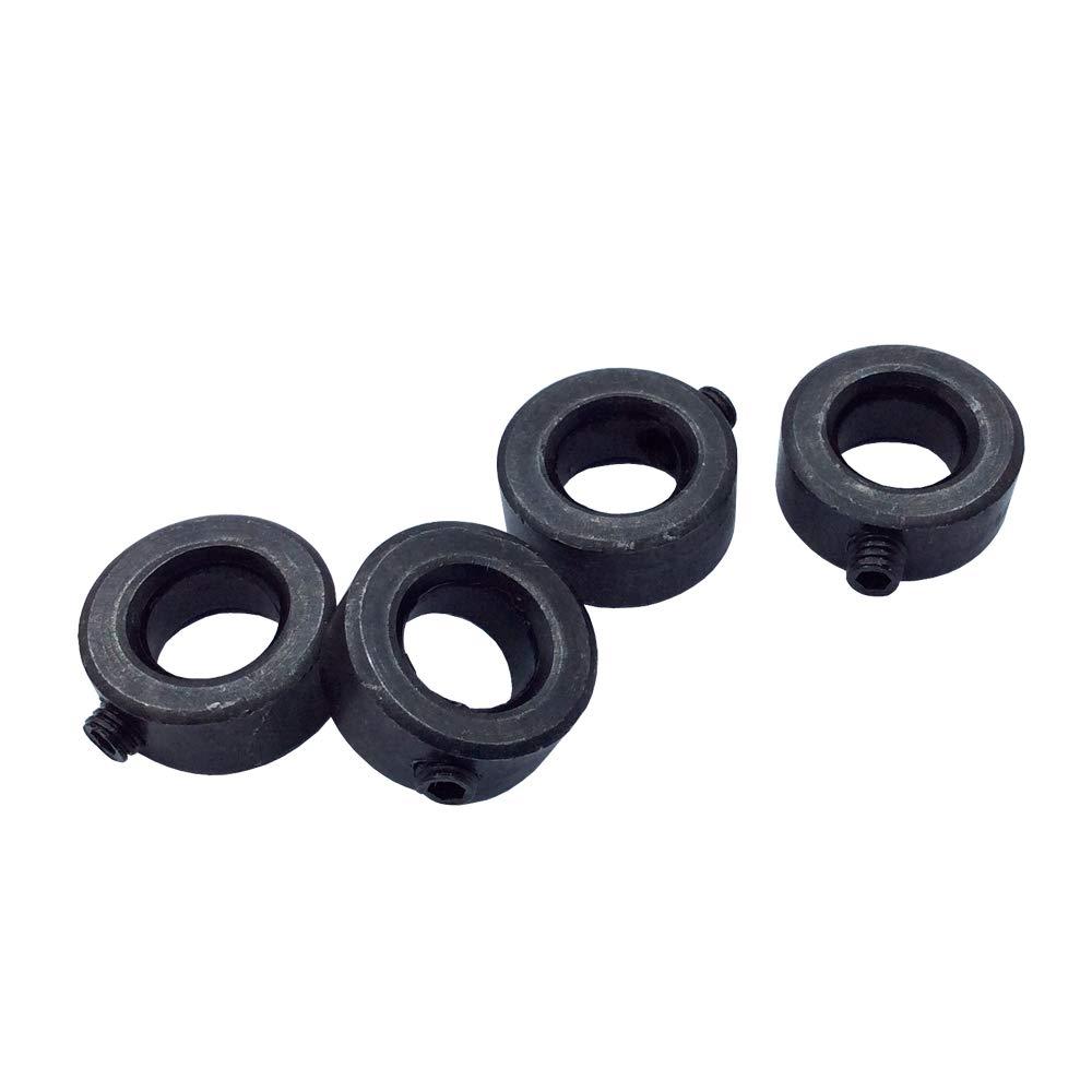 Ochoos 4Pcs Carbon Steel Shaft Collars Bore 8 10 12 14 16 18 20mm Screw Style for DIY Fixed Ring - (Diameter: 20mm)