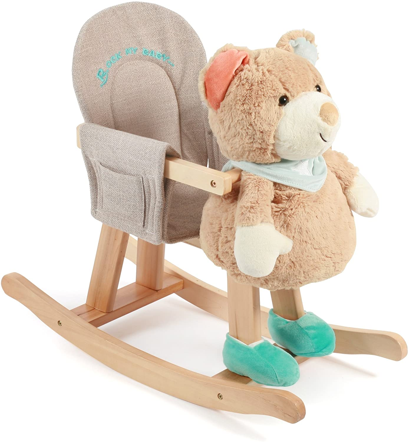 Bayer Chic 2000 408 03 Rocking Bear with Removable Hand Puppet