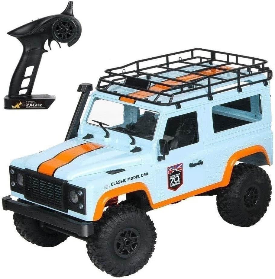 Xuess Suitable for Any Terrain Children's Gifts 1:12 Speed Drifting Toy 4-Wheel Drive Climbing Car Off Road Military Truck RC Toy Car Model (Color : Blue, Size : 3 Batteries)
