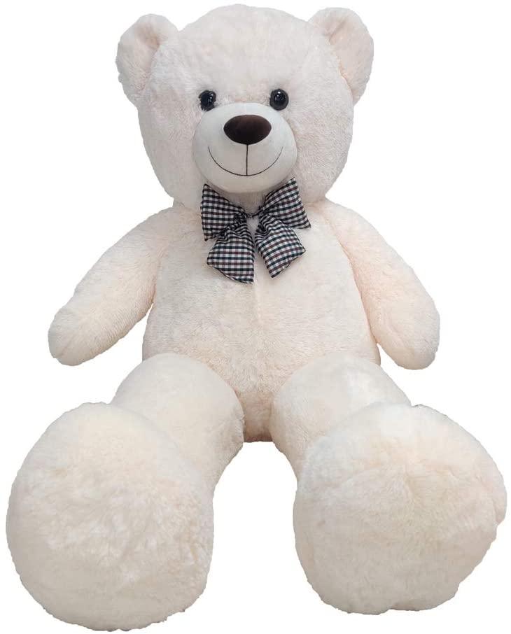 47 inch White Giant Teddy Bear Plush Stuffed Animals for Girlfriend or Kids