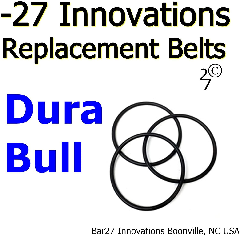 -27 Repalcement Belts 3 Pack DURA Bull Rock Tumbler Drive Belt