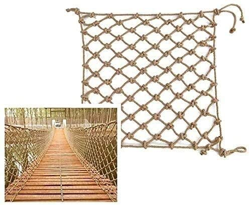 Hemp Rope Net And Stairs Decorative Network, Hammock Net Climbing Hooks As Ceiling Net And Fence Mesh 0705 (Size : 1x5m)