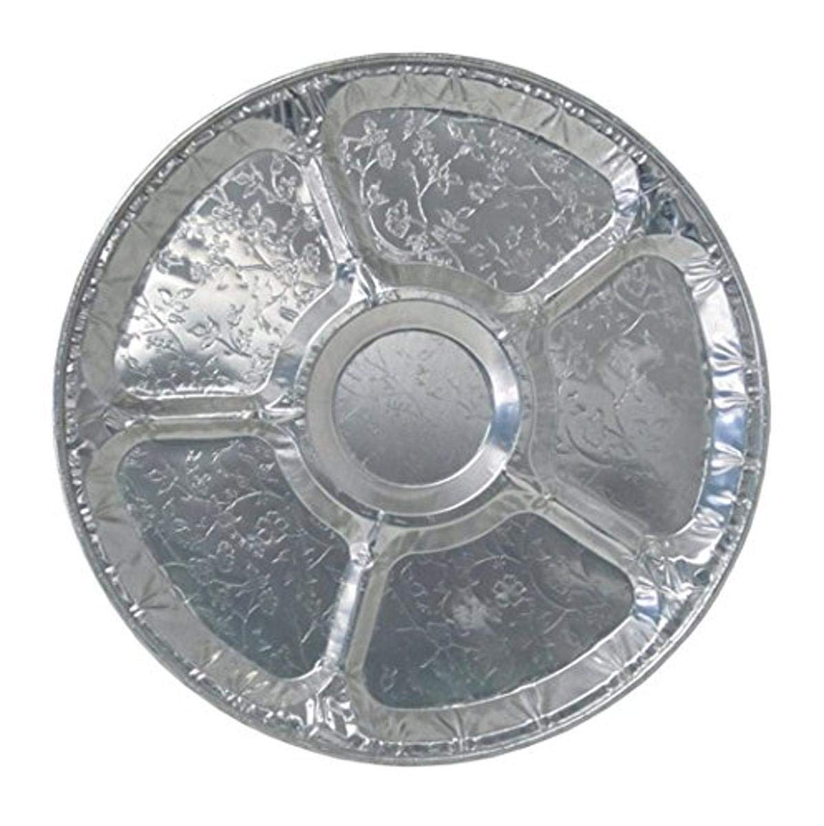 Durable Packaging Disposable Aluminum Round Lazy Susan Tray, 12