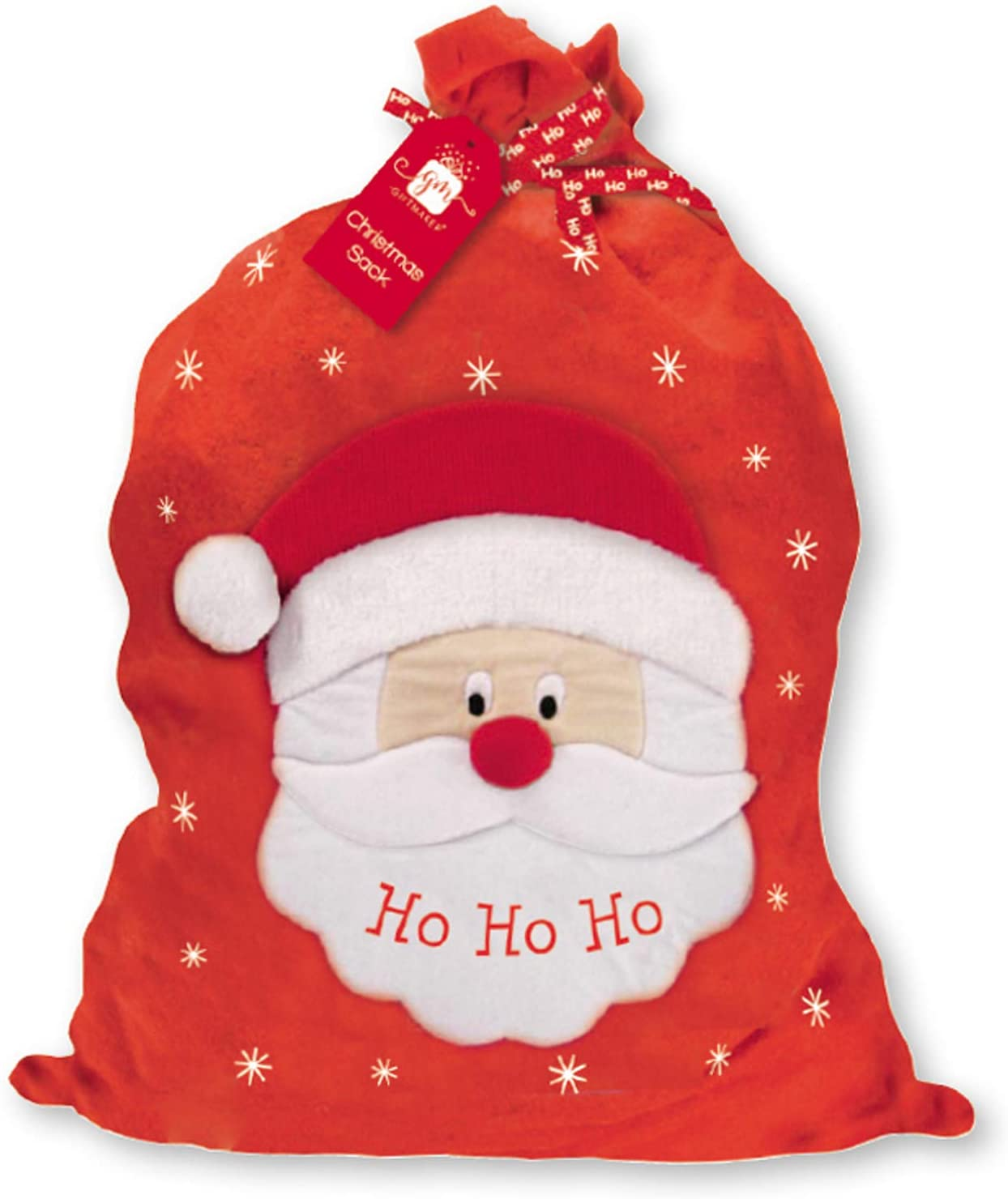 Giftmaker Large Velour Santa's Sack Ho Ho Ho 70x 60cm