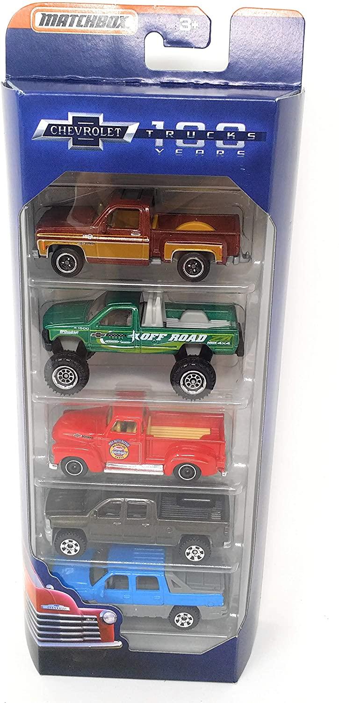 Matchbox 100 Years Anniversary Chevrolet Trucks 5-Pack