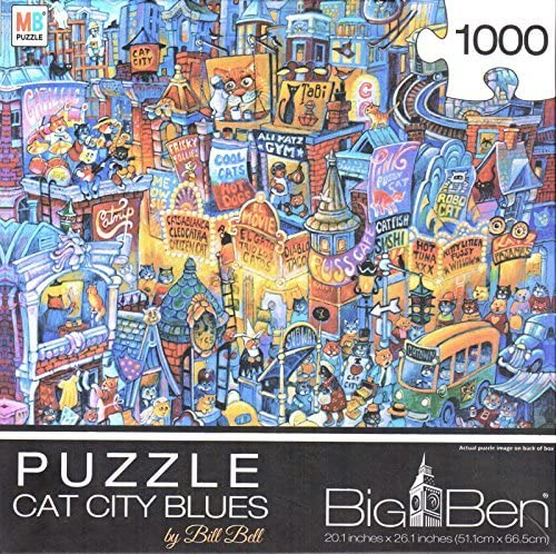 Cat City Blues By Bill Bell 1000 Piece Puzzle by George