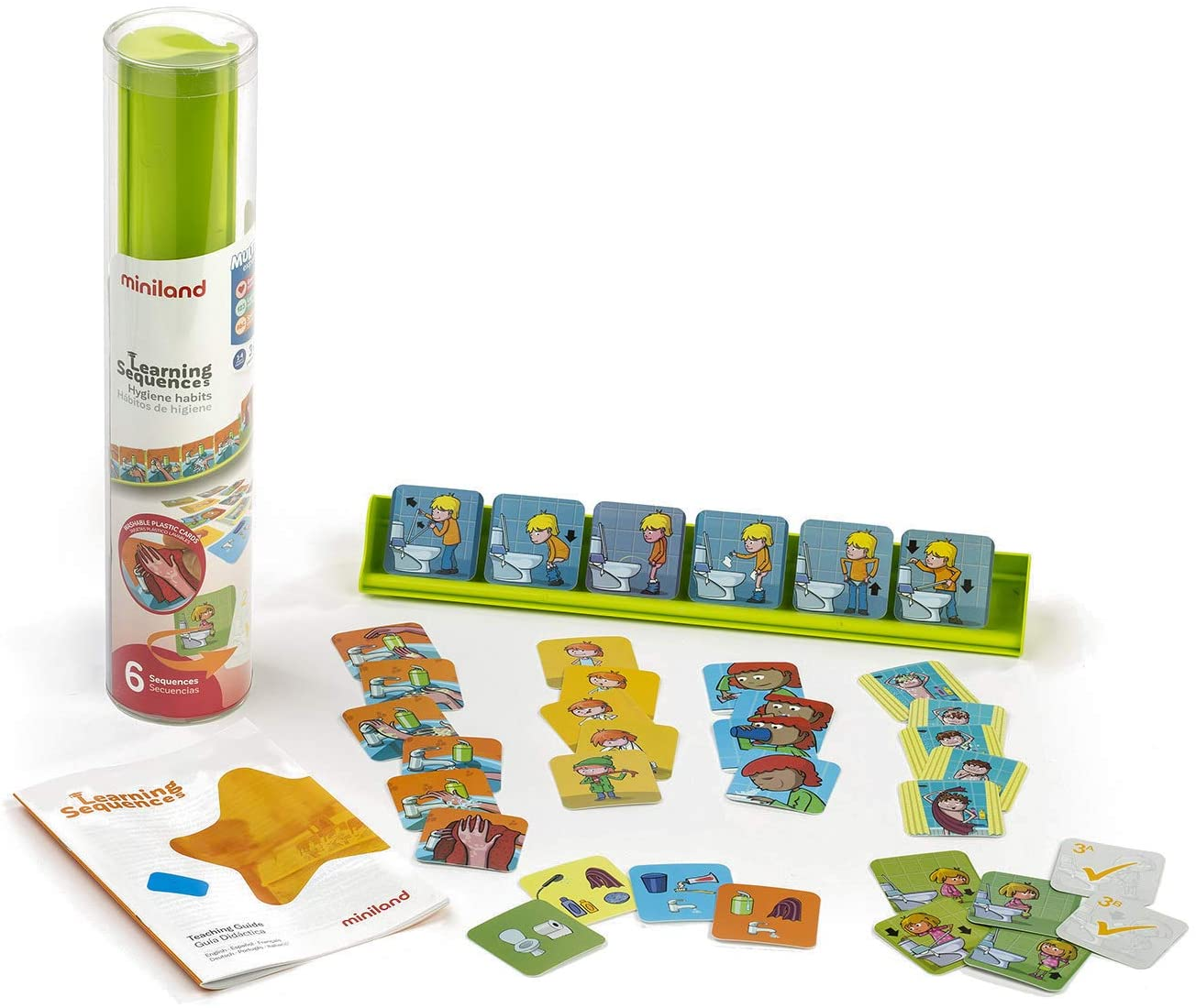 Miniland Educational - Learning Sequences: Hygiene Habits Playset