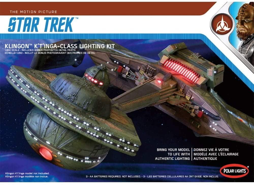 Polar Lights 1/350 Star Trek Klingon K't'inga Lighting Kit, PLLMKA031