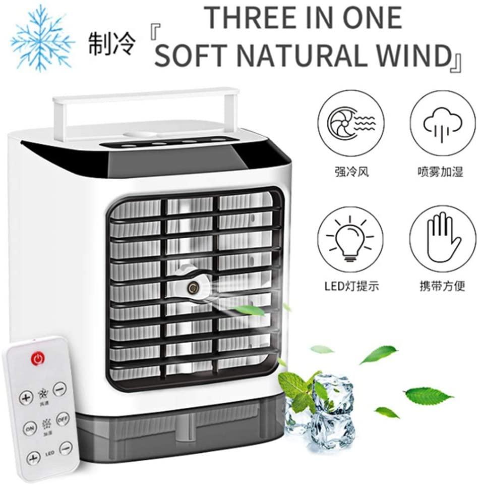 JAOCDOEN 3 in 1 Mini Air Cooler 3 Speeds Desktop Cooling Fan Portable Air Conditioner