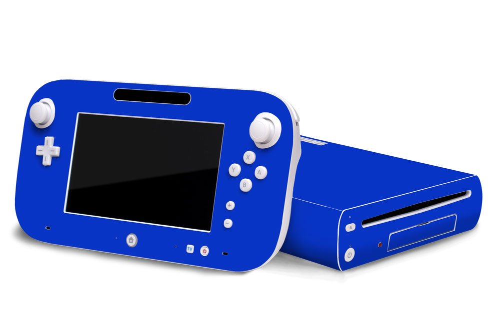 Ocean Blue Vinyl Decal Faceplate Mod Skin Kit for Nintendo Wii U Console by System Skins