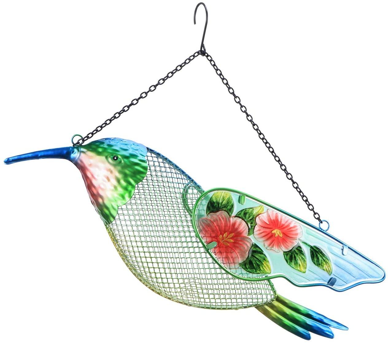 MUMTOP Wild Bird Feeder 17 Inch Hummingbird Metal Outdoor Patio Decor 3.95 Pound