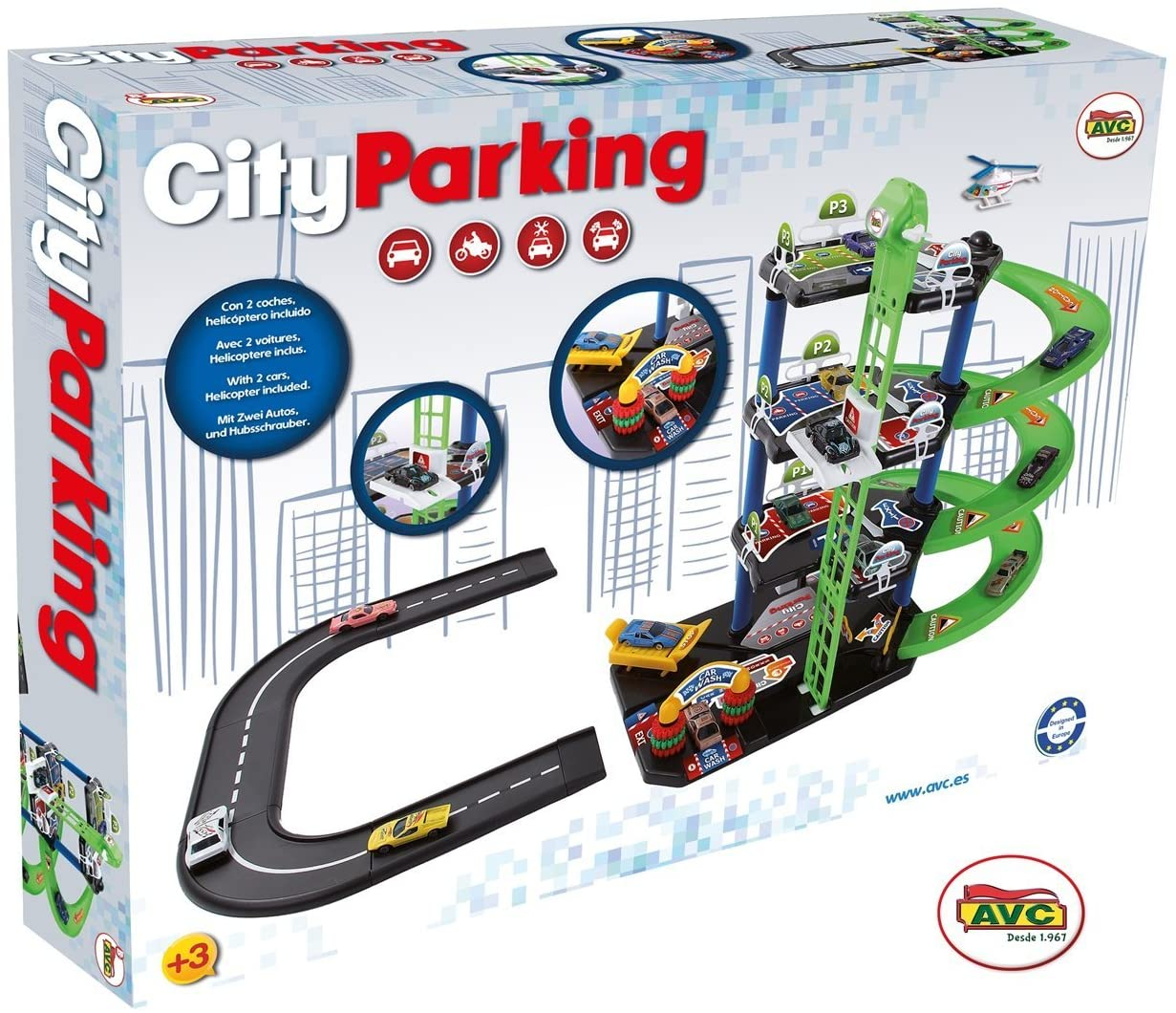 AVC 752 City Parking with 6 Cars Parkingsseries, Multi-Colour