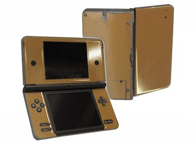 Gallant Gold Vinyl Decal Faceplate Mod Skin Kit for Nintendo DSi XL (DSi-XL) Console by System Skins