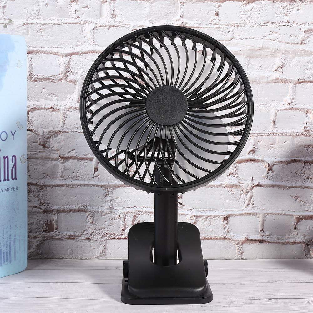 Clip Fan, 2600mAh Battery Operated Portable Clip on Fan, Table Top Fan, for Office Desk for Dorm(Black)
