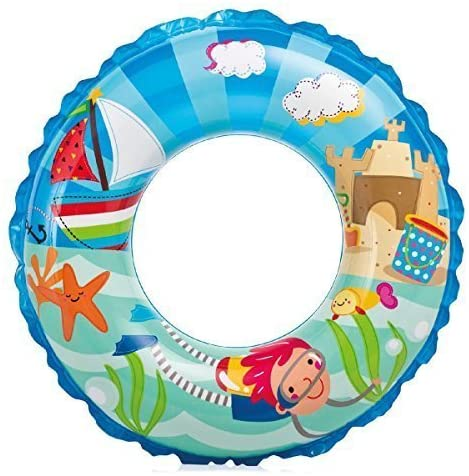 Intex Recreation Boys Day at Beach Ocean Reef Print Swim Ring 24