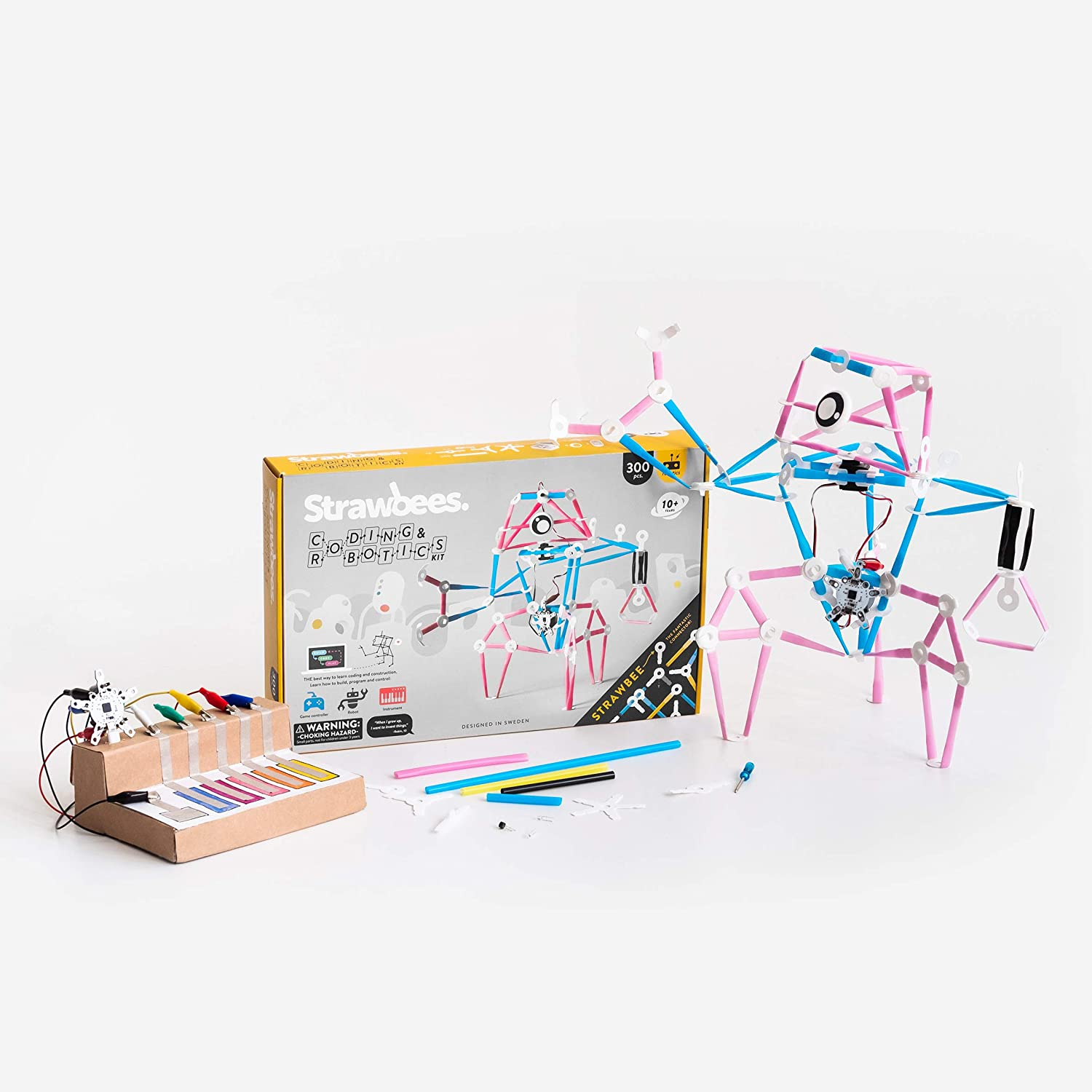 Strawbees Coding & Robotics Kit STEM Building and Programming Set, 300+ Pieces