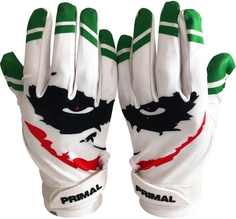 Primal Gloves Smiley Joker Football Receiver Gloves